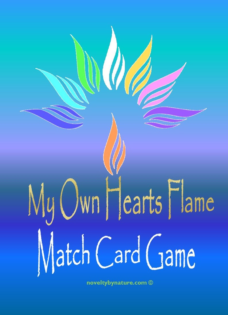 Children/'s Games Educational and Homeschool Games My Own Hearts Flame Positive Affirmations Match Card Game