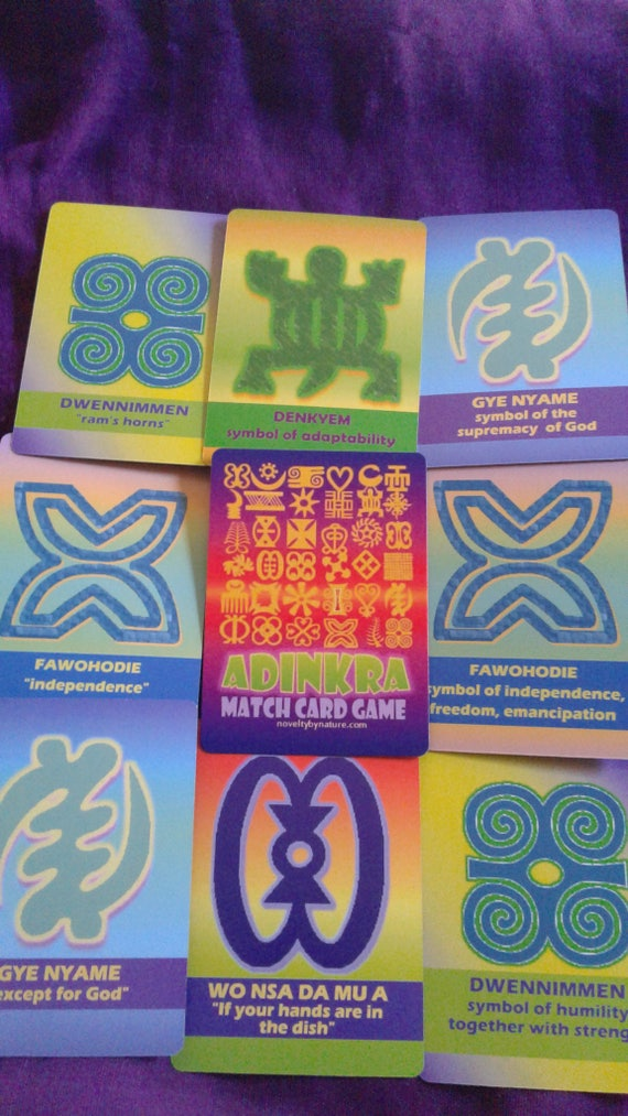 Adinkra Match Card Game Adinkra Symbols Match Card Games Etsy