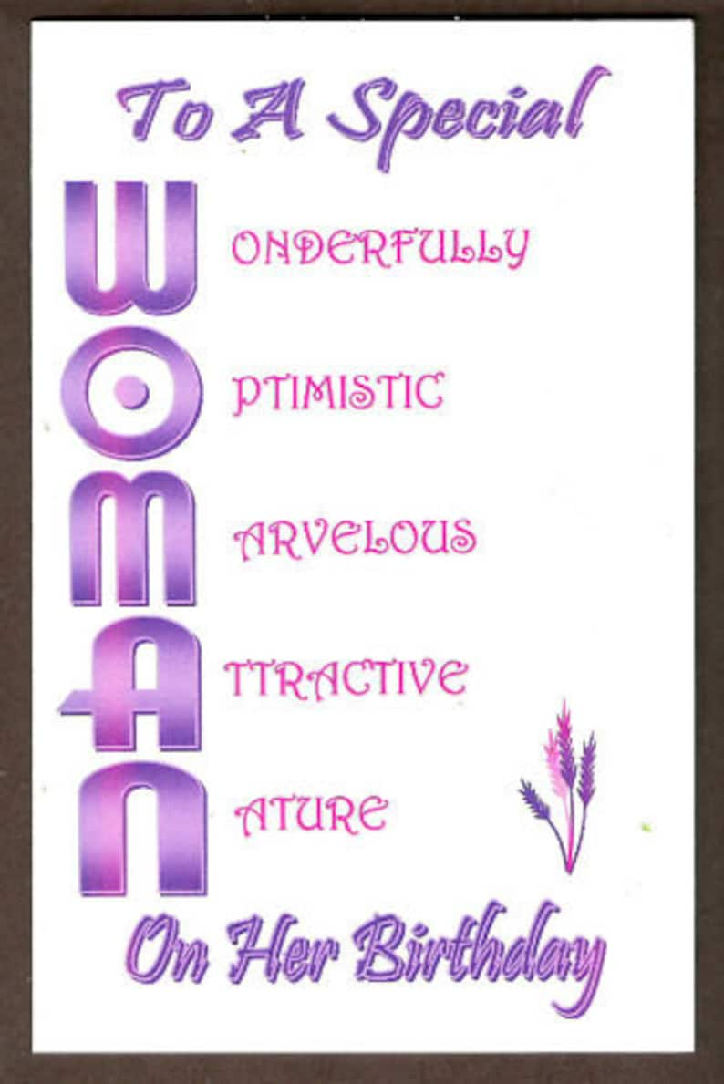 Personalized Custom Acrostic Poetry Birthday Cards For Any