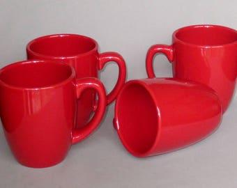 red coffee mug etsy