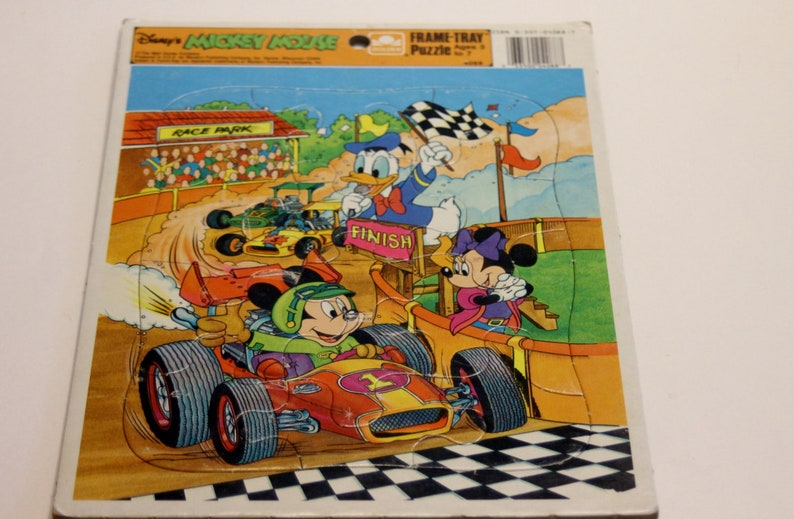 1980 Disney/'s Mickey Mouse Frame-Tray Puzzle #4088 Disney Puzzle