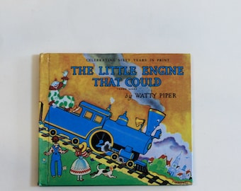 The Little Engine That Could by Watty Piper (1990 Printing) - Children's Book, Vintage Book, Story Book, Train