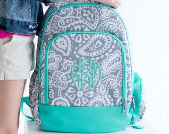 Parker Paisley Backpack - Monogrammed or Personalized with Embroidered Name - Back to School Book Bag