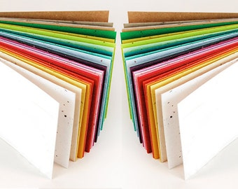 """5 Sheets of 8.5"""" x 11"""" Plantable Wildflower Seeded Recycled Paper - 39 Colors Available - DIY Favor"""