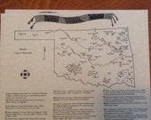 Oklahoma Treasure Maps Items similar to Oklahoma buried treasure map reproduction on aged