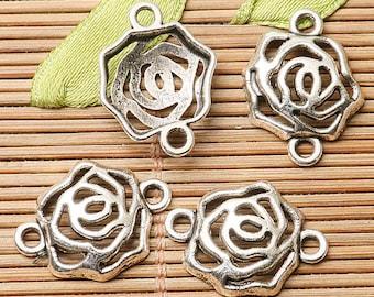 20pcs dark silver color elephant  design charms  EF2674