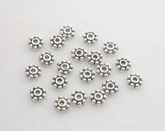 "16pcs Tibetan Silve round /""hope/"" Spacer bead Findings X0217"
