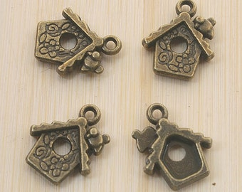 8pcs antiqued silver key design pendant charm G855