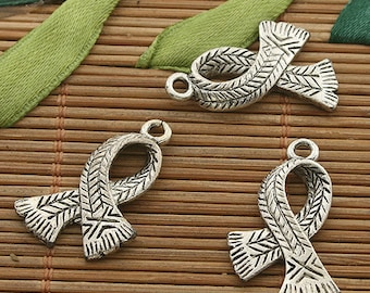 10pcs dark silver tone scarf finding charms h3537