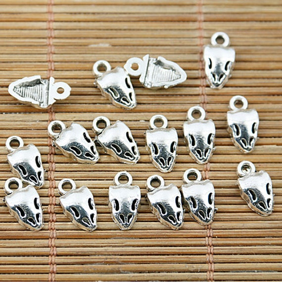 30pcs Dark Silver Color 2 Sided Owl Spacer Bead EF2738