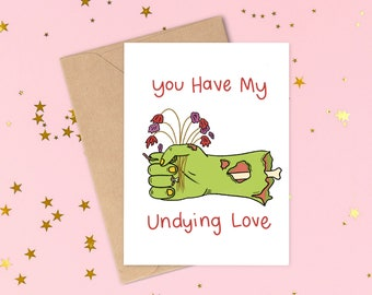 Alternative Valentines Card Love Friendship You are part of my Official Apocalypse  Plan