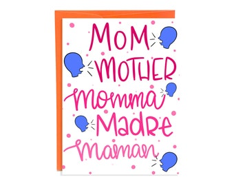 Cute Mother Card, Funny Card For Mom, Mommy Card, Mummy Card,Funny Mom Card, Funny Card For Mum, Mothers Day Card, Mama Card, Cute Mom Card
