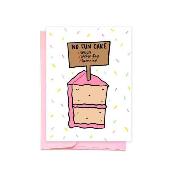 Vegan Cake Card Birthday