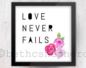 Love Never Fails - roses