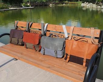 Canvas Messenger Bag,Leather Canvas Messenger Bag,Canvas Macbook Bag,Mens Canvas Leather Messenger Bag,Canvas Laptop Bag,Canvas Briefcase