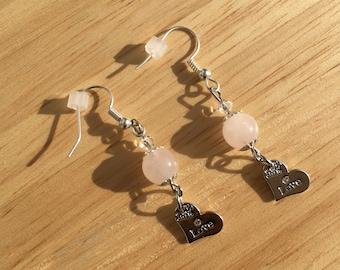 Love Rose Quartz Earrings