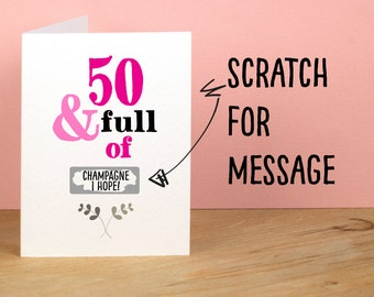 50th Birthday Card Greetings For Best Friend Mum Funny 50 And Full Of Rude Sarcastic Humorous Personal