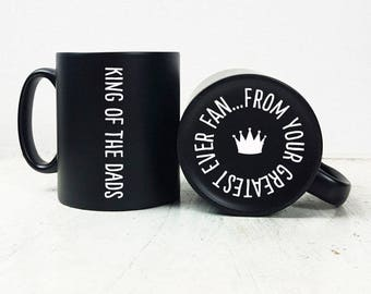 Hidden Message King of the Dad Mug-Gift for Dad-Fathers Day Gift-Personalised Gift-Personalized Mug-Mug Gift-Father's Day Gift for Dad