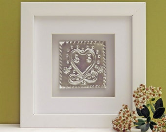 Personalised 10th Wedding Anniversary Gift Tin Heart, handmade 10th wedding anniversary gift