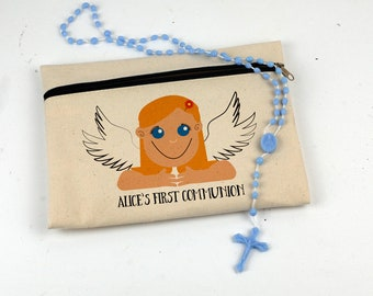Holy Communion Angel Pencil Case Stationery for children First Communion Confirmation Gift 1st Holy Communion Religious Gift Pencil Pouch