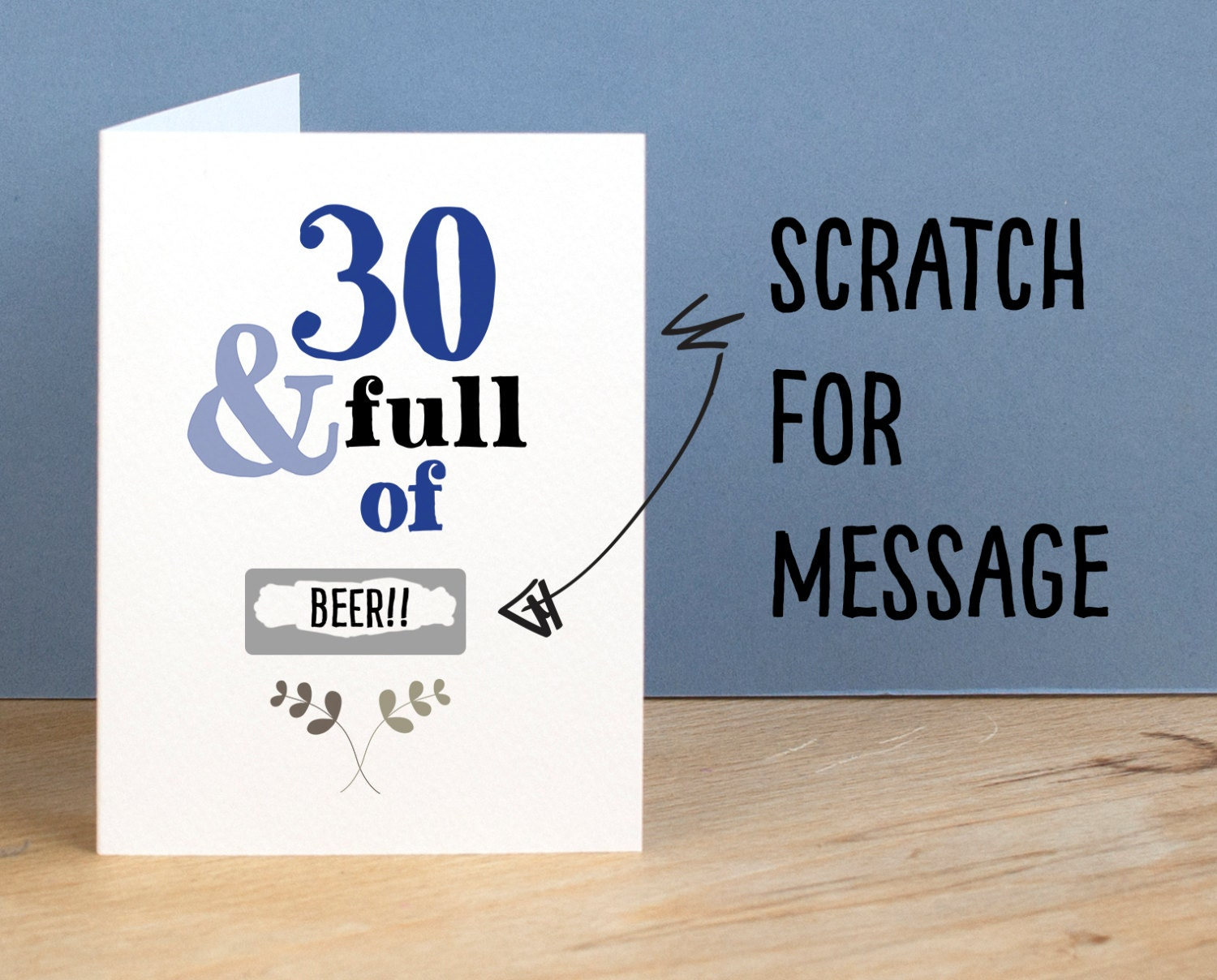 30th Birthday Card 30 And Full Of Rude Sarcastic Humorous