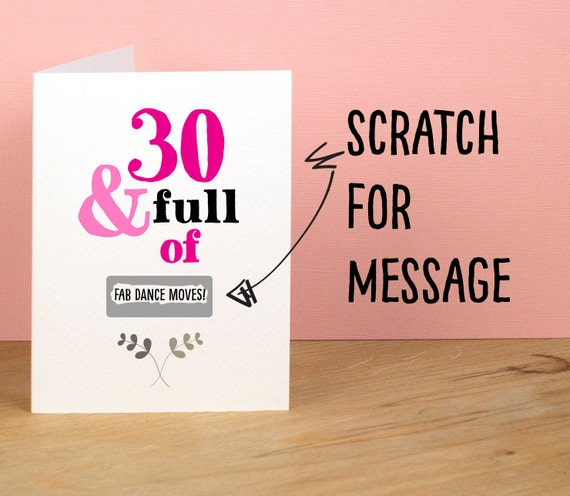 30th Birthday Card Funny Card For Friend Sister Brother Etsy