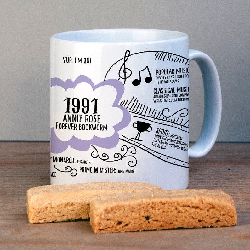 Personalised 30th Birthday Mug Gift image 0