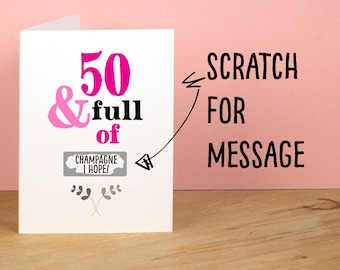 50th Birthday Card Greetings Card for Best Friend Card for Mum Funny Card 50 and Full of Rude Sarcastic Humorous Birthday Card Personal Card
