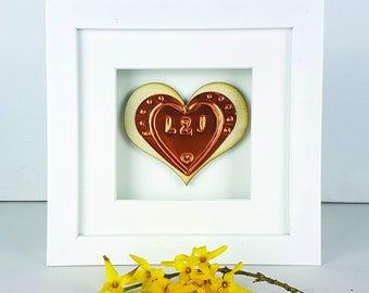 Embossed Birch Wooden Heart