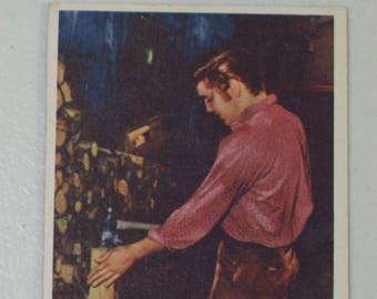 Antique  1956 Elvis Presley Trading Card Love Me Tender Movie Farm Chores, No. 48 Bubbles Inc.