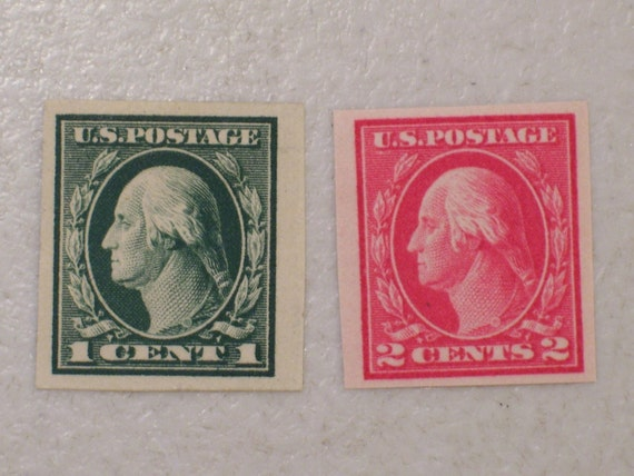 1912 US Postage StampS Scott 408 409 Imperforate