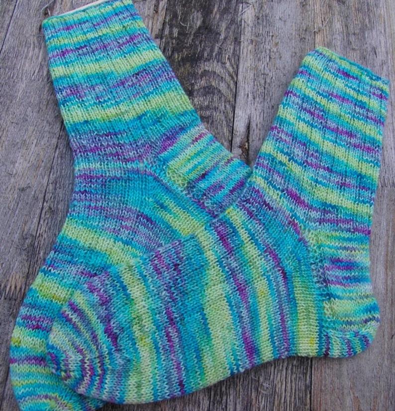 Hand Knit Socks  for Women UK 5-7 US 7-9 Nr. 16 image 0
