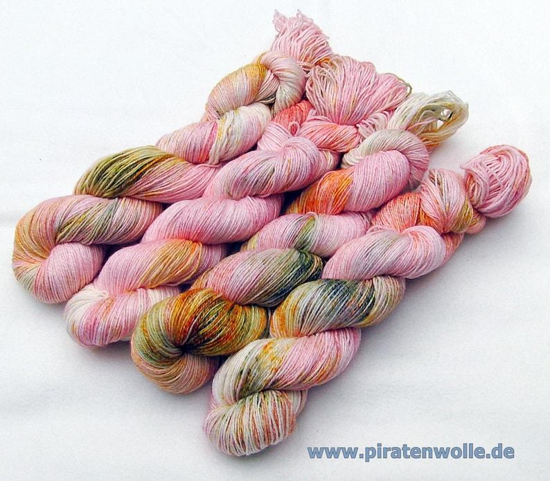 SockYarn handdyed  75 Wool25 COTTON25 Polyamid 100g Nr.172 image 0
