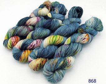 SockYarn, handdyed  75 Wool, 25 Polyamid 100g 3.5 oz. Nr.868