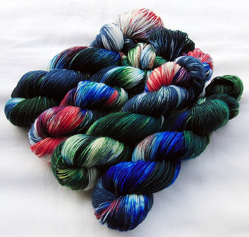 SockYarnhanddyed  75 Wool 25 Polyamid 100g 3.5 oz. Nr. A265 image 0