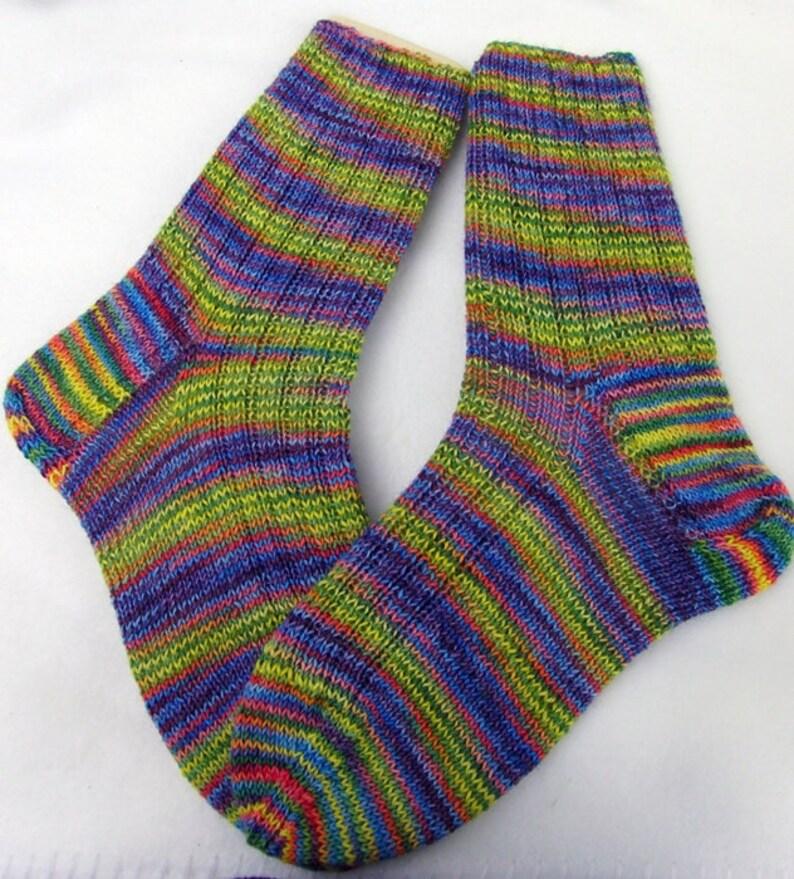 US 7-9  Nr.11 Hand Knit Socks  for Women UK 5-7