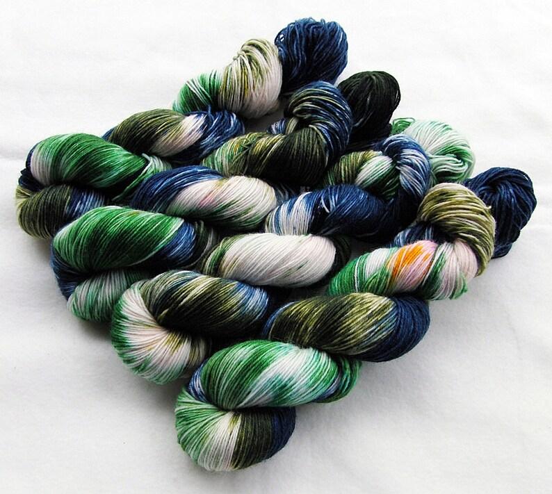 SockYarn handdyed  75 Wool 25 Polyamid 100g 3.5 oz. Nr. A398 image 0