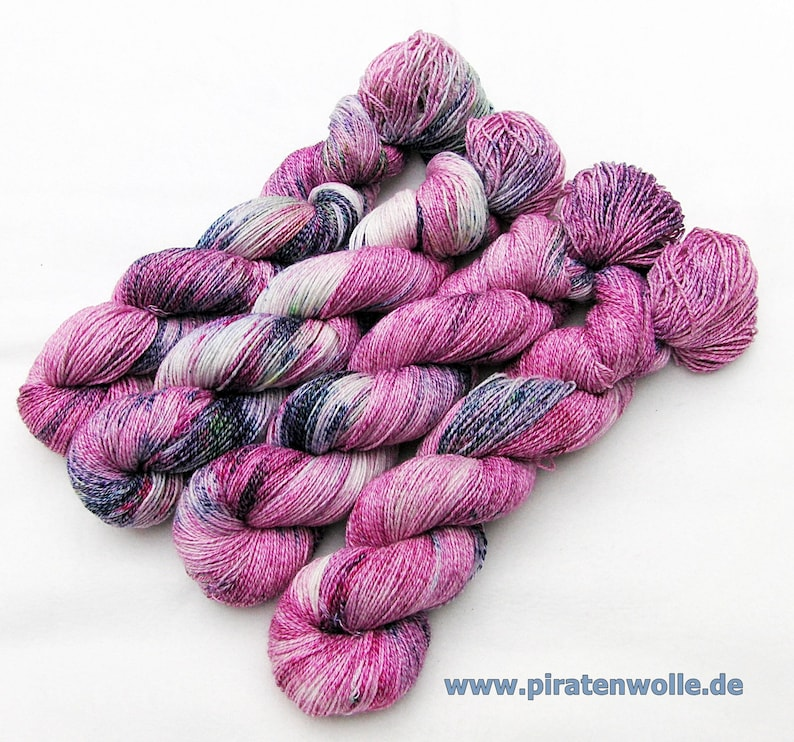 SockYarn handdyed  75 Wool25 COTTON25 Polyamid 100g Nr.171 image 0