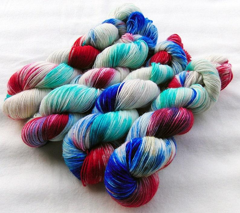 SockYarnhanddyed  75 Wool 25 Polyamid 100g 3.5 oz. Nr. A261 image 0