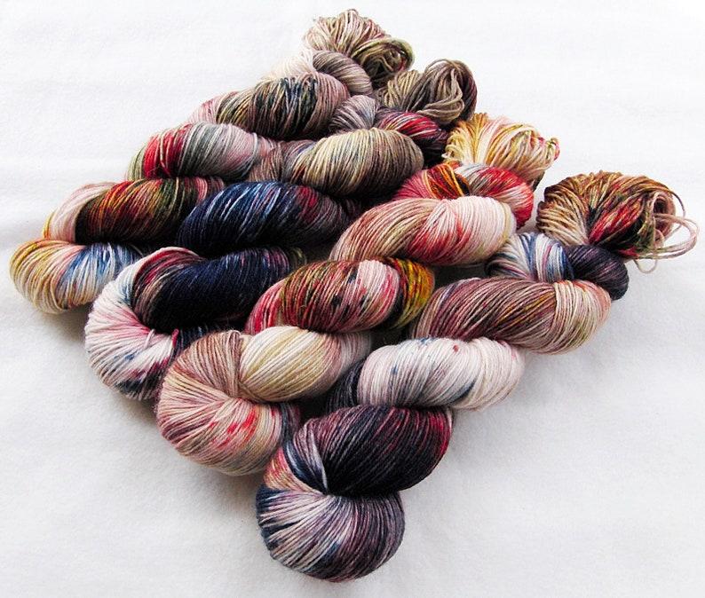 SockYarn handdyed  75 Wool 25 Polyamid 100g 3.5 oz. Nr. A772 image 0