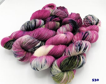 SockYarn, handdyed  75 Wool, 25 Polyamid 100g 3.5 oz. Nr.530