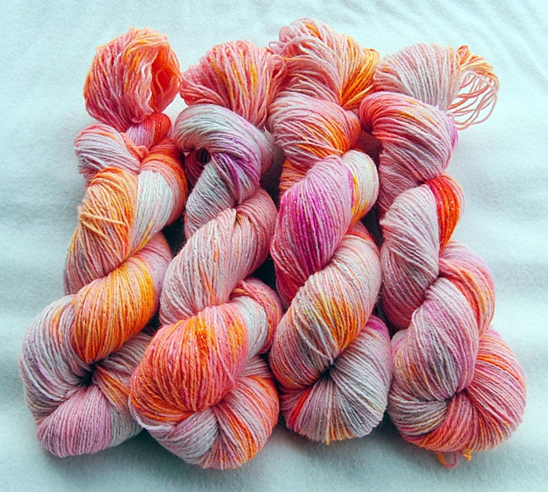 SPARKLE SockYarn71 Wool24 Nylon5 Polyester 100g 3.5 oz.Nr. image 0
