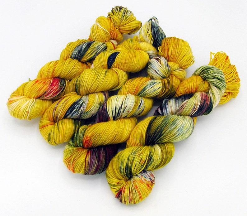 SockYarn handdyed  75 Wool 25 Polyamid 100g 3.5 oz. Nr. A783 image 0