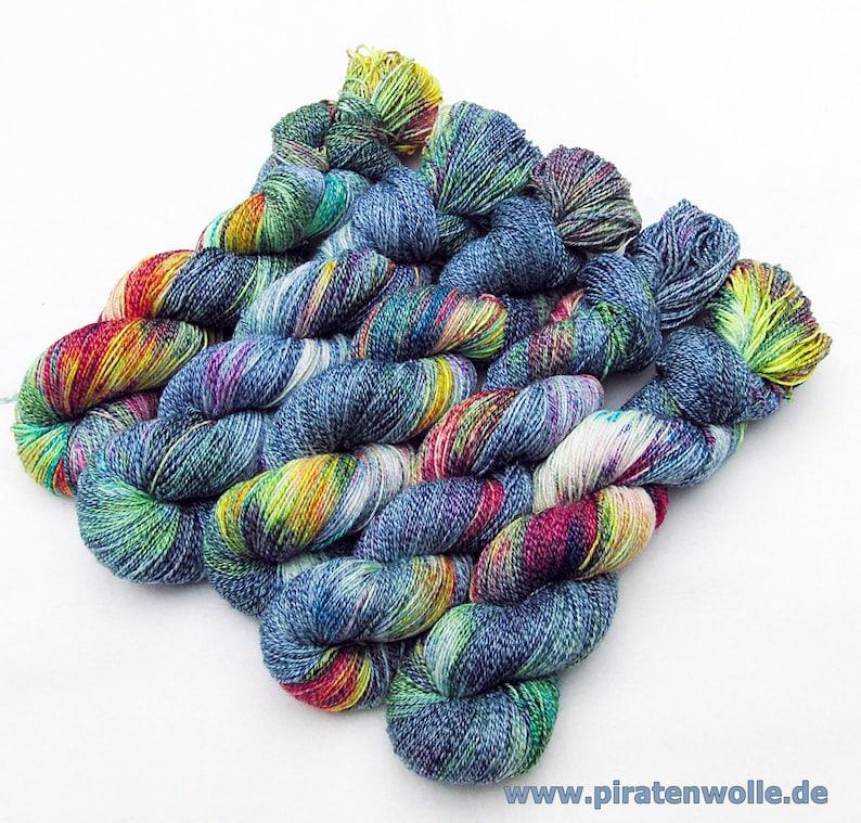 SockYarn handdyed  75 Wool25 COTTON25 Polyamid 100g Nr.167 image 0