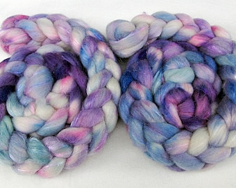 BFL-Nylon Wool Roving -Hand Dyed Fiber  5.3 oz.  Nr. 109
