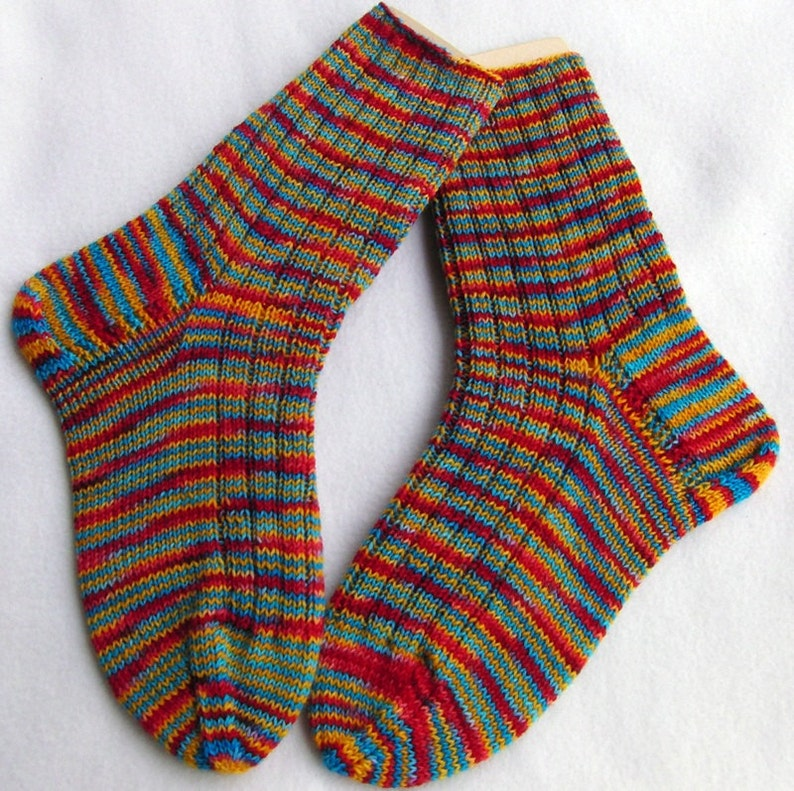 Hand Knit Socks  for Women UK 5-7 US 7-9  Nr. 13 image 0