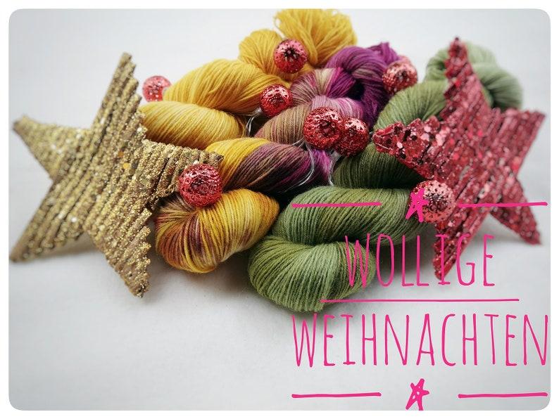 CHRISTMAS GIFT  Sock yarn  5x 100g image 0