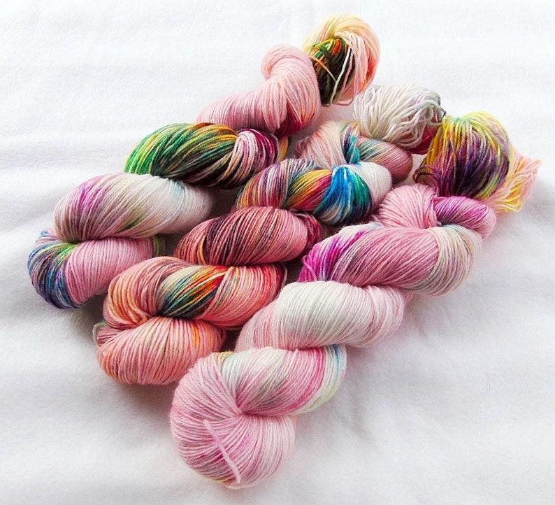 SockYarn handdyed  75 Wool 25 Polyamid 100g 3.5 oz. Nr. A770 image 0
