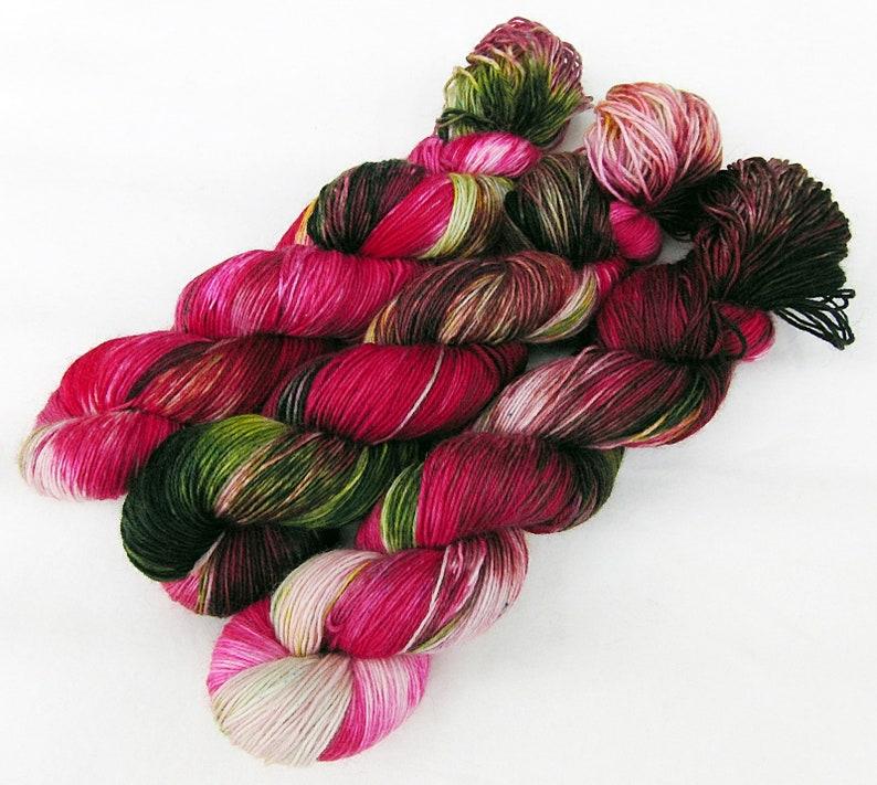 SockYarn handdyed  75 Wool 25 Polyamid 100g 3.5 oz. Nr. A548 image 0