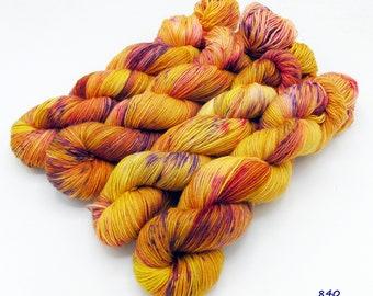 SockYarn, handdyed  75 Wool, 25 Polyamid 100g 3.5 oz. Nr.840